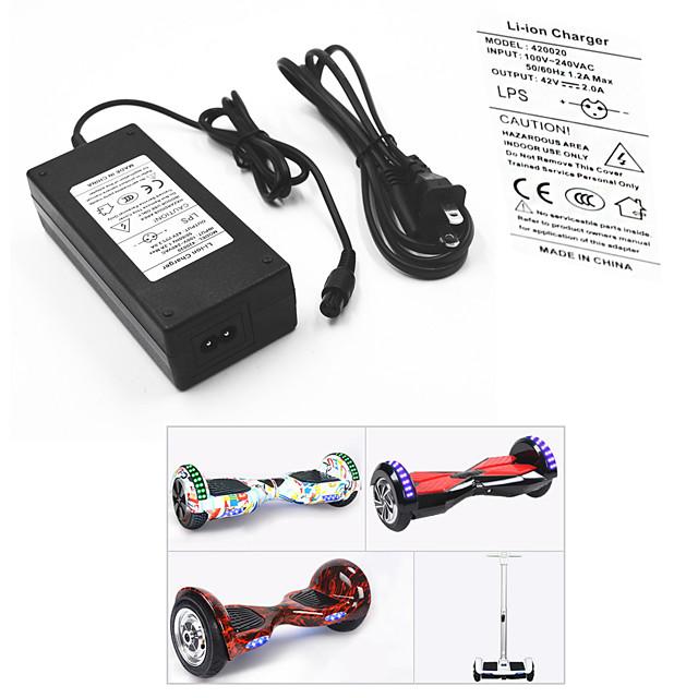 Adaptador de Tomadas / Cabo para Hoverboard / Carregador de Baterias Elétrico 42 V V 2 A A Entrada 100-240 V V AC Para Hoverboard / Skate Waveboard 13.8*6.0*3.6 cm Plástico