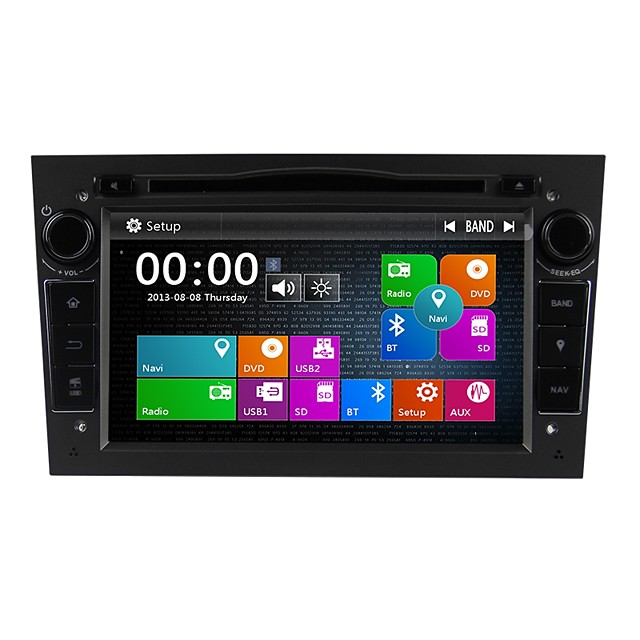 Factory OEM 7 inch 2 DIN Windows CE 6.0 Touch Screen / GPS / Built-in Bluetooth for Opel Support / RDS / SD / USB Support / Radio / DVD-R / RW / CD-R / RW