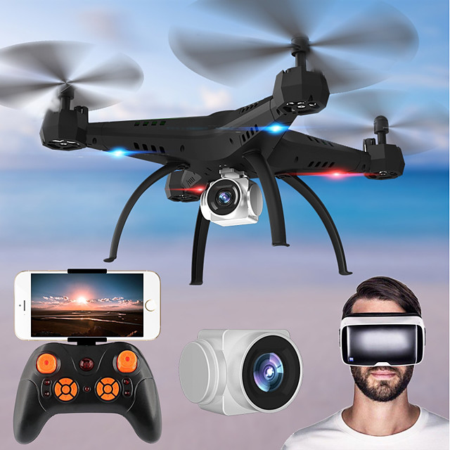 RC Drone KY501W BNF 4CH 6 Axis 2.4G With HD Camera 2.0MP 720P RC Quadcopter FPV / One Key To Auto-Return / Headless Mode RC Quadcopter / Remote Controller / Transmmitter / Blades