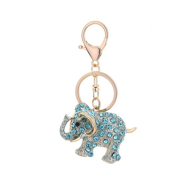 Keychain Elephant Casual Fashion Ring Jewelry Light Blue / Light Brown / Light Pink For Gift Daily