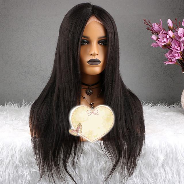 capelli naturali Remy Lace frontale Parrucca Taglio ...