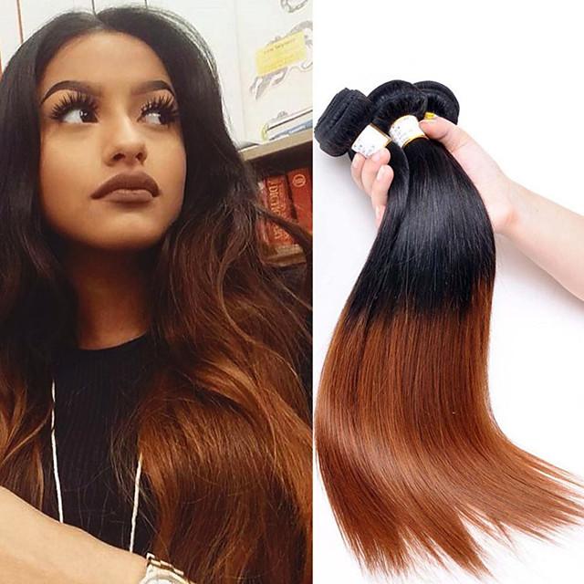 3 Bundles Brazilian Hair Straight Human Hair One Pack Solution Natural Human Hair Weaves Soft Silky Best Quality Human Hair Extensions Short Medium Length Long Ombre Hair 8a 6667497 2020 88 39