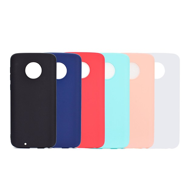 Case For Motorola Moto G5 Plus / Moto G5 Frosted Back Cover Solid Colored Soft TPU