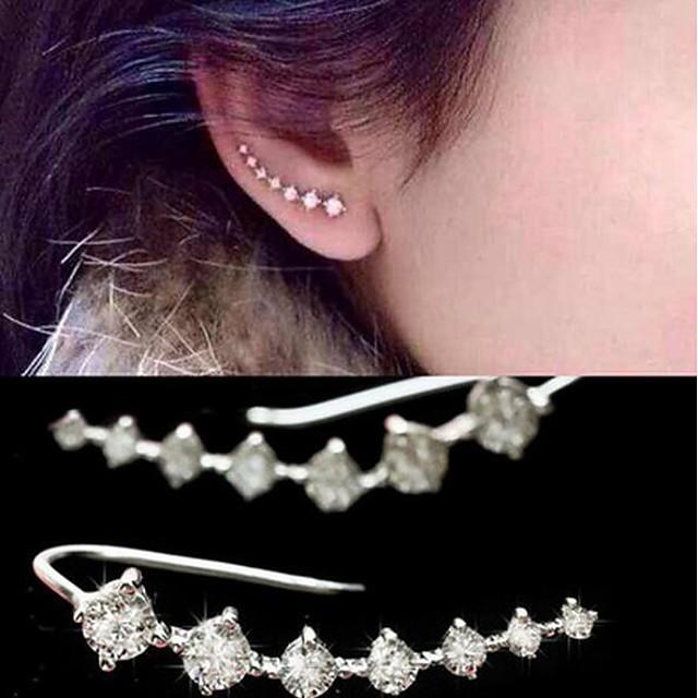 Women's Pearl Drop Earrings Climber Earrings Helix Earrings cuff Ladies Imitation Pearl Cubic Zirconia Earrings Jewelry Gold / Silver For
