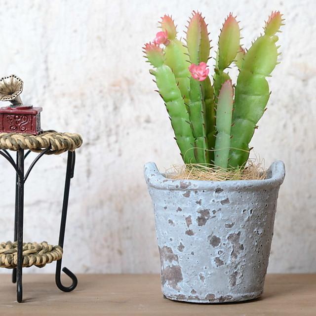 Flores artificiais 1 Ramo Retro Plantas suculentas Flor de Mesa