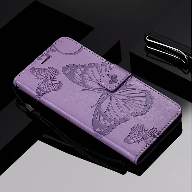 Case For Nokia Nokia 6 2018 / Nokia 5 / Nokia 3 Wallet / Card Holder / with Stand Full Body Cases Butterfly Hard PU Leather