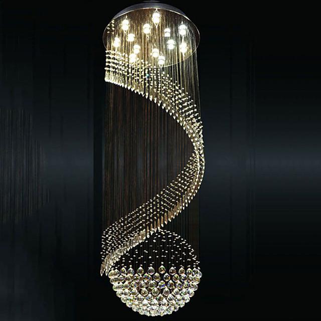 14 Bulbs 80cm(31.5 Inch) LED Pendant Light Metal Electroplated Tiffany / Rustic / Lodge / Modern Contemporary 110-120V / 220-240V