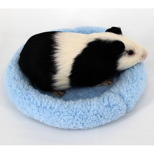 Mouse Hamster Bed Beds Portable Washable Cloth Blue