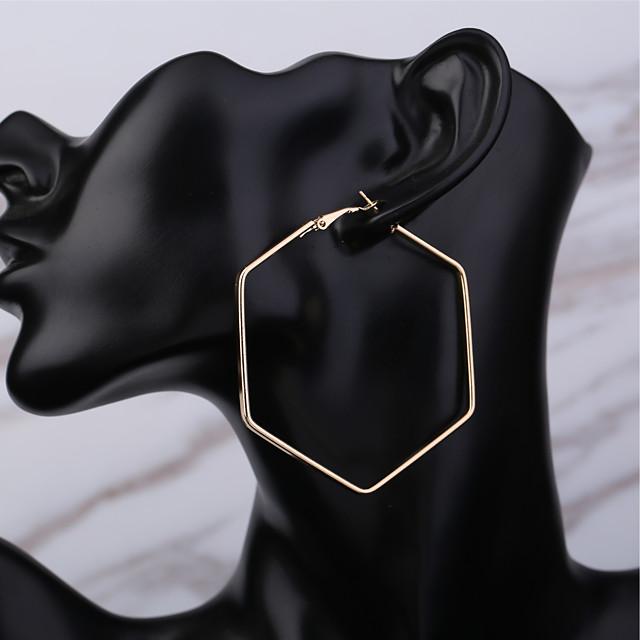 Žene Okrugle naušnice Csillag Klasik Osnovni Naušnice Jewelry Zlato Za Dnevno Praznik