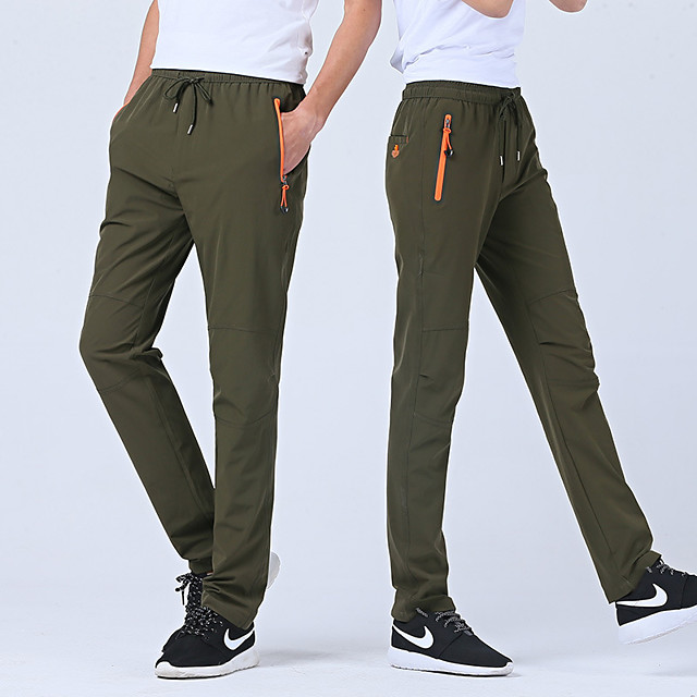 Men's Hiking Pants Outdoor Waterproof Breathable Quick Dry Anatomic Design Spandex Pants / Trousers Bottoms Camping / Hiking Hunting Fishing Dark Grey Army Green Khaki 4XL L XL XXL XXXL / Stretchy
