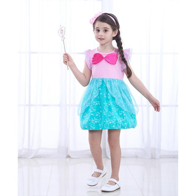 The Little Mermaid Princess Dress Flower Girl Dress Girls' Movie Cosplay A-Line Slip Pink Dress Children's Day Masquerade Satin / Tulle