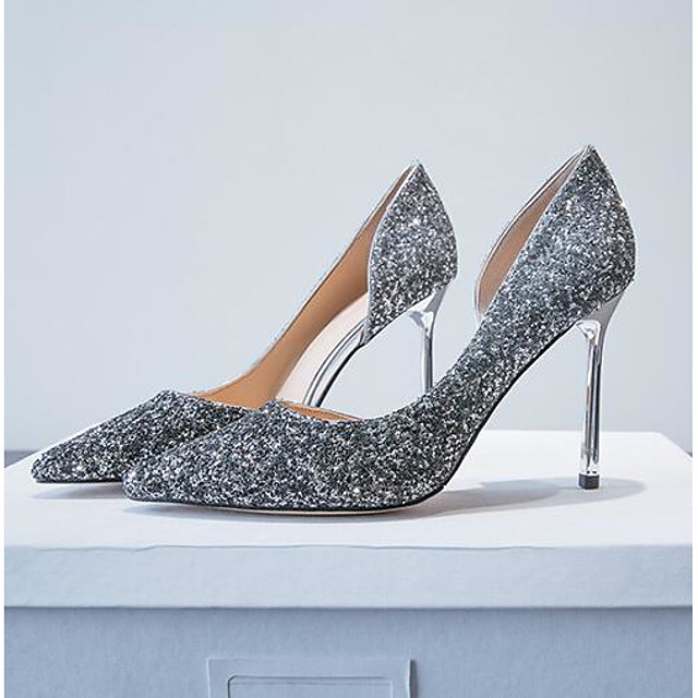 Women's Heels Stiletto Heel Synthetics Comfort Summer Black / Gold / Silver / Wedding / Daily