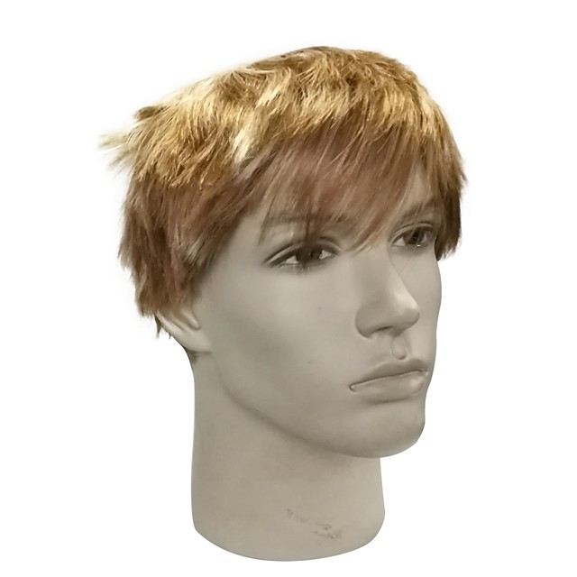 Synthetic Wig Straight Pixie Cut Layered Haircut Short Bob Wig Blonde Short Light Blonde Synthetic Hair Men's Anime Party Synthetic Blonde / Natural Hairline / Natural Hairline