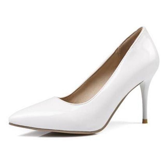 Women's Heels Stiletto Heel PU Comfort / Basic Pump Spring / Summer Black / White / Yellow / Daily