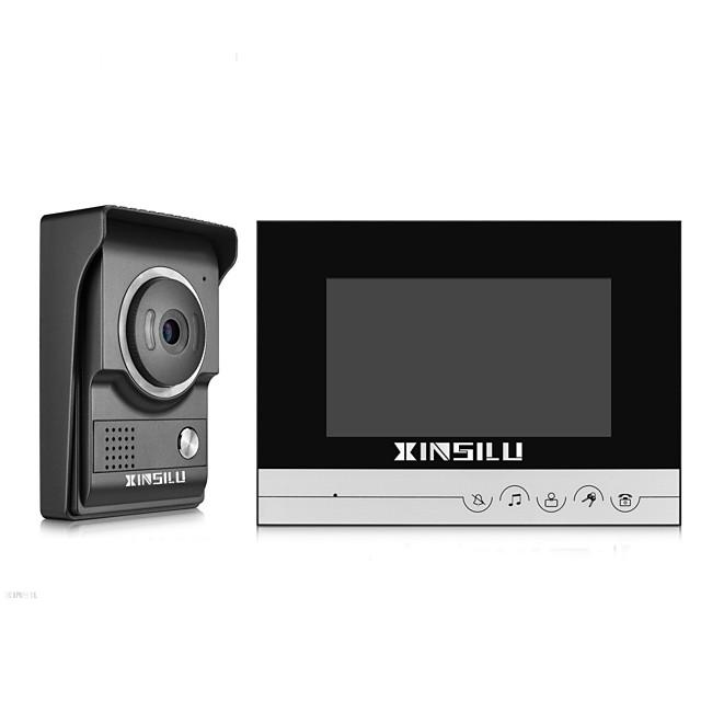 XINSILU® Security 7inch Wired Video Door Phone Doorbell Intercom Door Access Control System XSL-V70R-LBlack Color Outdoor Camera