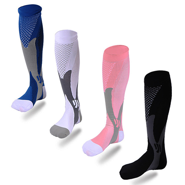 Nogometne čarape Sport čarape / atletske čarape Najlon Muškarci Žene Kompresija čarape Prozračnosti 1 par