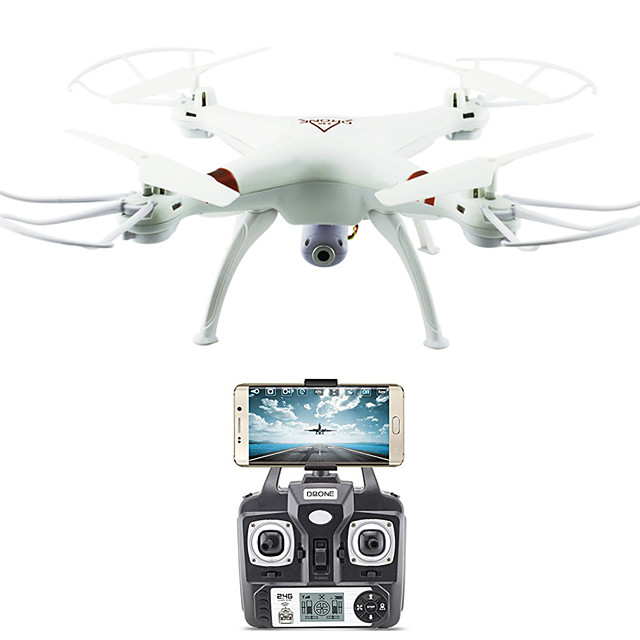 RC Drone FLYRC X53 RTF 4CH 6 Axis 2.4G With HD Camera 0.3MP 640P*480P RC Quadcopter One Key To Auto-Return / Auto-Takeoff / Access Real-Time Footage RC Quadcopter / Remote Controller / Transmmitter