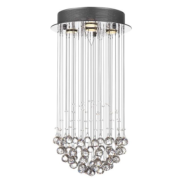 SL® 4-Light 32 cm Crystal Pendant Light Metal Chrome Modern Contemporary 110-120V / 220-240V