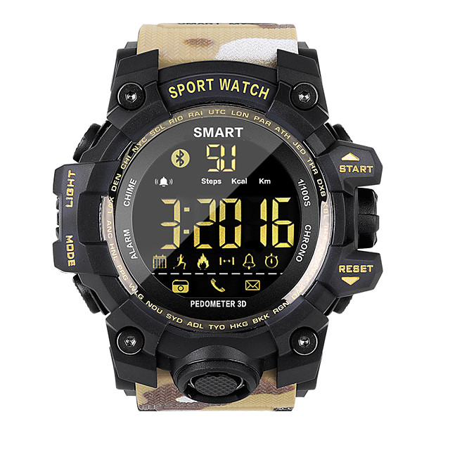 EX16S camouflage style outdoor sports waterproof smart watch Bluetooth remote control camera long standby
