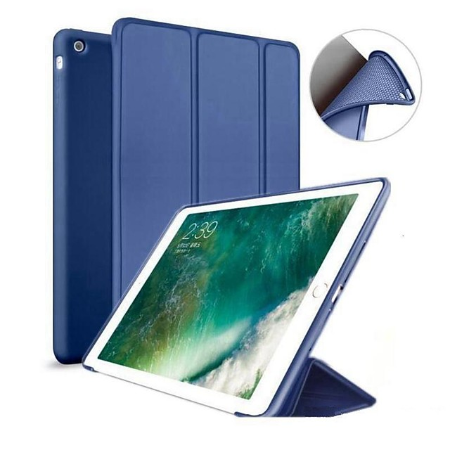 Case For Apple iPad Air / iPad 4/3/2 / iPad Mini 3/2/1 with Stand / Magnetic Full Body Cases Solid Colored Hard Silicone / iPad Pro 10.5