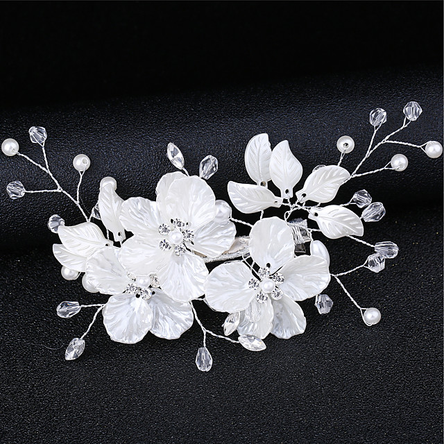 Women's For Date Cosplay Costumes Festival Flower Criss Cross AAA Cubic Zirconia Fabric Alloy White
