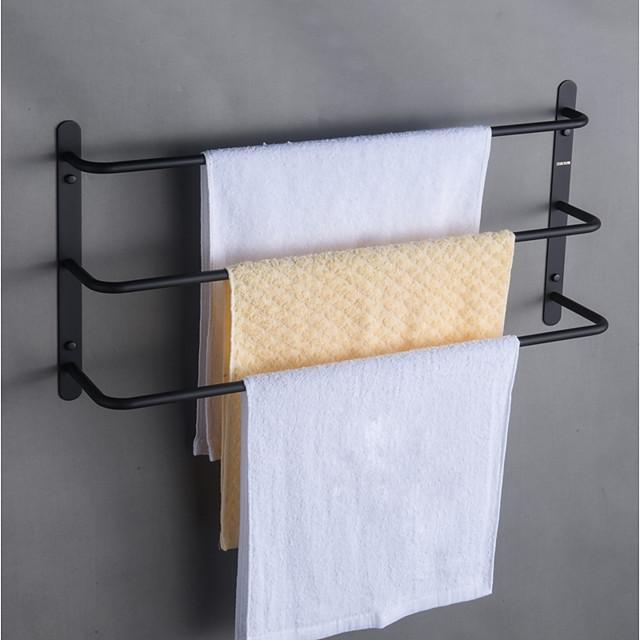 Set di accessori per il bagno / Portasciugamani a muro / Mensola del bagno Creativo / Multistrato / Nuovo design Moderno / Antico Acciaio inossidabile 1 pc - Bagno / Bagno dell'hotel 3 portasciugamani