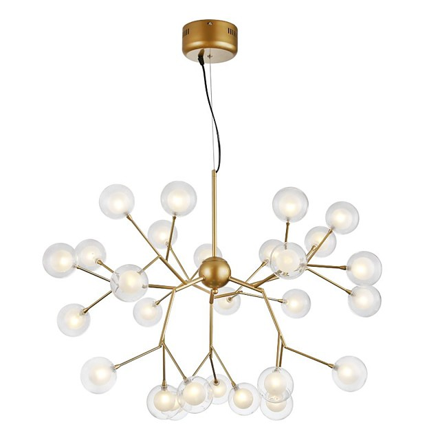27-Light 75 cm Creative Chandelier Metal Glass Sputnik Painted Finishes Artistic Globe 110-120V 220-240V