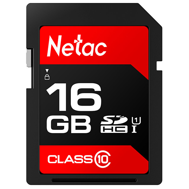 Netac 16GB SD Card Memory Card UHS-I U1 for Camera Tablet Mobile Phone