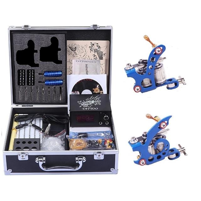 Professional Tattoo Kit Tattoo Machine - 2 pcs Tattoo Machines, High Speed / Variable Speeds / Professional Level Alloy # 2 alloy machine liner & shader