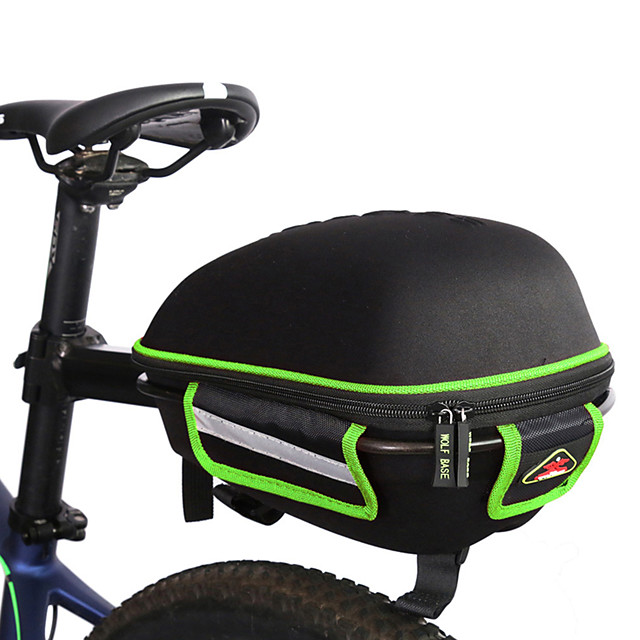 WEST BIKING® Bike Saddle Bag Bike Rack Bag Large Capacity Waterproof Portable Bike Bag Cloth Aluminum Alloy Lycra Bicycle Bag Cycle Bag Road Bike Mountain Bike MTB BMX / Reflective Strips