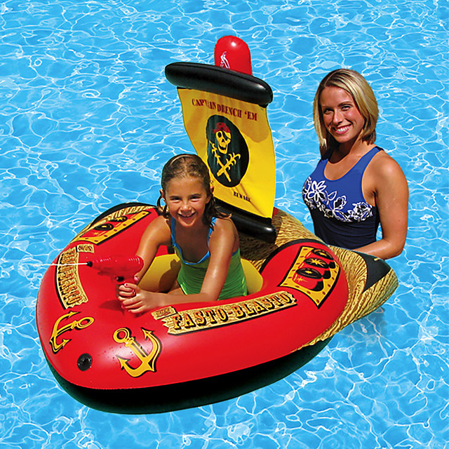 Inflatable Pool Float Inflatable Ride-on Inflatable Pool Funny Soft Plastic Summer Pirate Ship Pool Boys and Girls Kid's