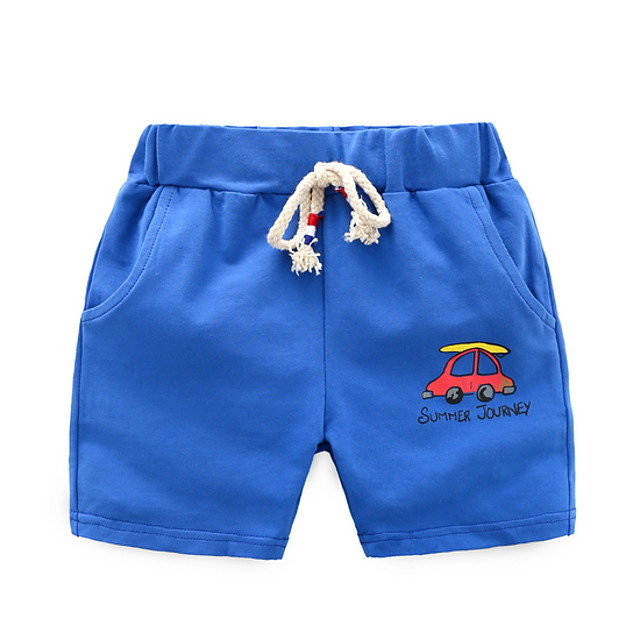 Toddler Boys' Basic Daily Print Shorts Purple