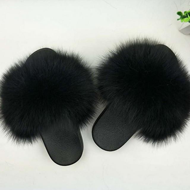 Women's Slippers House Slippers Fluffy Slippers Slides for Women Open Toe Slippers Girls Fluffy House Slides