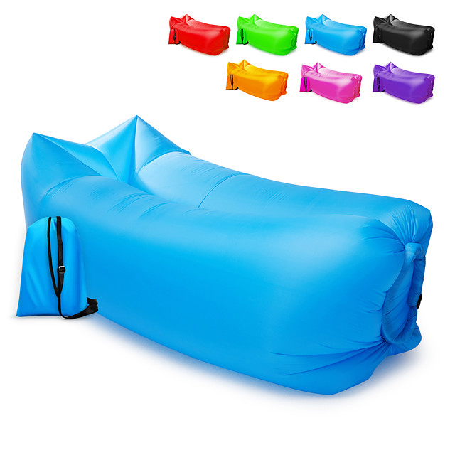 21Grams Air Sofa Inflatable Sofa Sleep lounger Air Bed Design-Ideal Couch Outdoor Camping Waterproof Portable Fast Inflatable Ultra Light (UL) Nylon for 1 person Camping / Hiking Beach Camping Spring