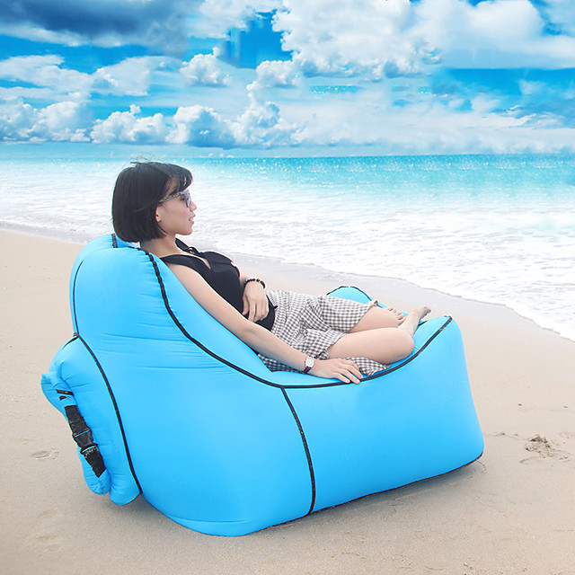 Air Sofa Inflatable Sofa Sleep lounger Air Bed Outdoor Waterproof Portable Lightweight Fast Inflatable Nylon 110*90*45 cm Beach Camping Outdoor Spring, Fall, Winter, Summer Red Blue Violet