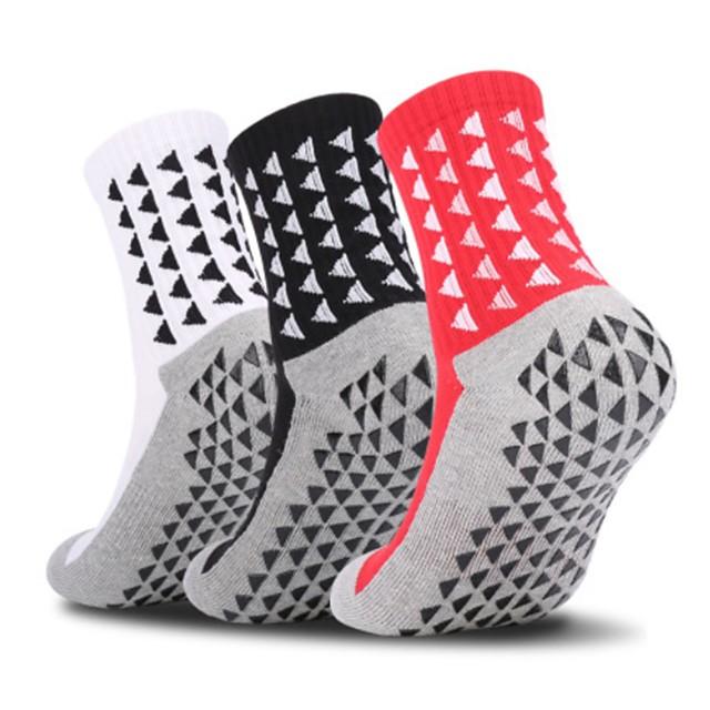 Adults Adults' Highschool Football Socks Athletic Sports Socks Soccer Socks Cotton Cotton Blend Chinlon Unisex Graphic Socks Grip Socks Play Football Anti-Slip Breathability Winter Sports & Outdoor