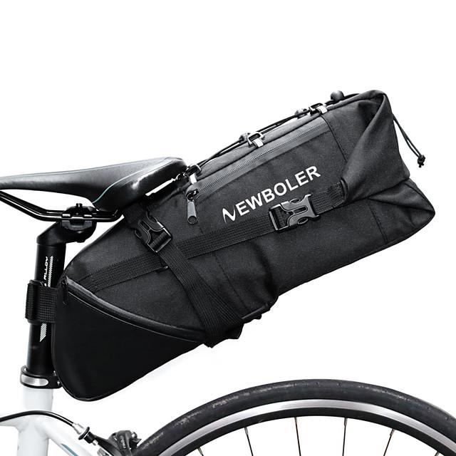 10 L Bike Saddle Bag Reflective Adjustable Large Capacity Bike Bag Polyester 900D Bicycle Bag Cycle Bag Road Bike Mountain Bike MTB / Waterproof
