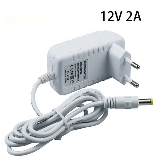 1pc with DC Connector Plastic Power Adapter for LED Strip light
