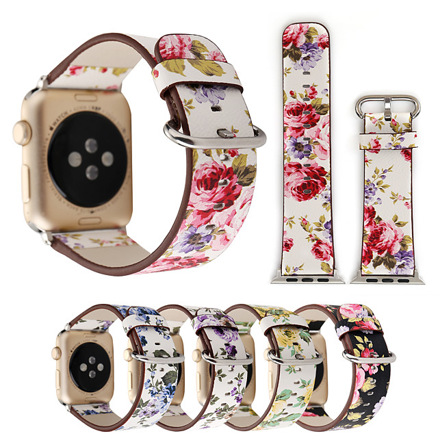 Watch Band for Apple Watch Series 6 / SE / 5/4 44mm / Apple Watch Series 6 / SE / 5/4 40mm Apple Classic Buckle Genuine Leather Wrist Strap
