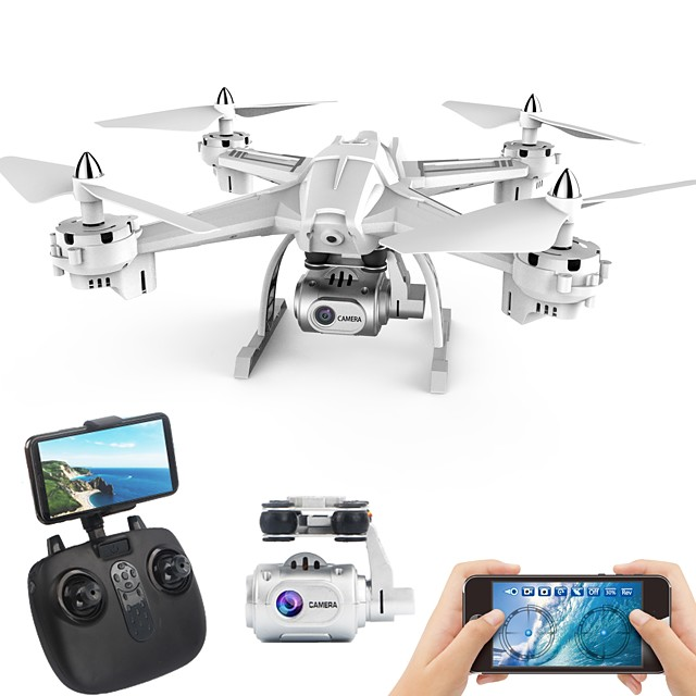 RC Drone XINGYUCHUANQI S6 RTF 4CH 6 Axis 2.4G With HD Camera 5.0 1080P RC Quadcopter One Key To Auto-Return / Headless Mode / Access Real-Time Footage RC Quadcopter / Remote Controller / Transmmitter