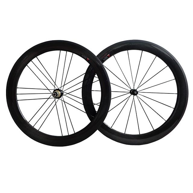 NEASTY 700CC Wheelsets Cycling 23 mm / 25 mm Road Bike Carbon / Carbon Fibre Clincher 18/21 Spokes 50 mm