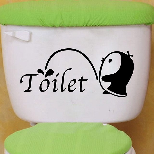 Toilet Stickers - Animal Wall Stickers Animals Living Room / Bedroom / Bathroom