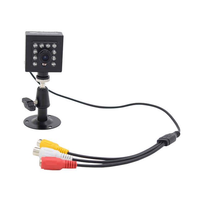 HQCAM® Audio 800TVL CMOS 0.03Lux 10pcs 940nm IR LED Security Camera IR Night vision 1/3 Inch Box Camera / IR Camera