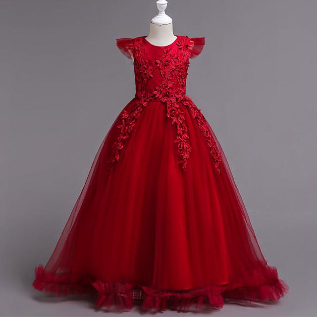 Kids Girls Party Dress Pageant Ball Gowns Chiffon Princess Formal Wedding Long Dresses