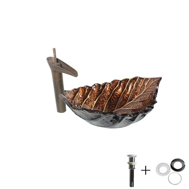 koupelnové umyvadlo / koupelnový faucet / koupelna montážní prsten umyvadlo / starožitné tvrzené sklo obdélníkové umyvadlo