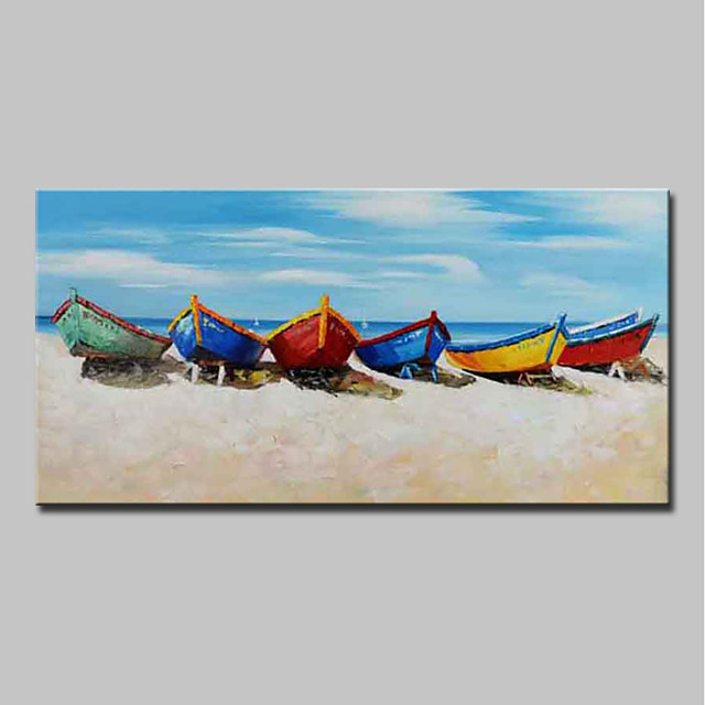 Oil Painting Hand Painted - Landscape / Still Life Modern Canvas