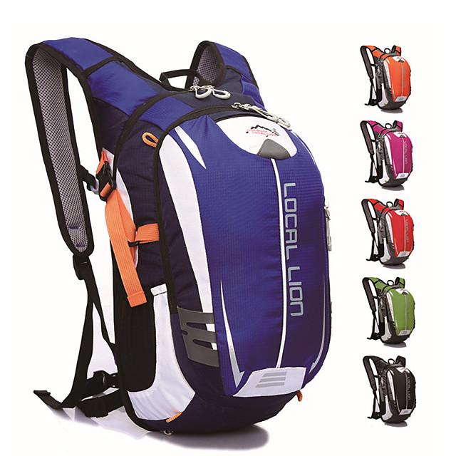 18 L Hiking Backpack Daypack Bike Hydration Pack & Water Bladder Anti-Slip Large Capacity Waterproof Bike Bag Polyester Mesh Nylon Bicycle Bag Cycle Bag Cycling Mountain Bike / MTB Bike / Bicycle
