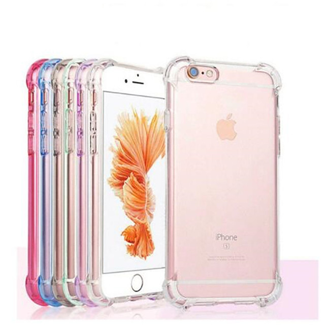 Case For Apple iPhone 12 / iPhone 12 Mini / iPhone 12 Pro Max Shockproof / Transparent Back Cover Solid Colored Soft TPU
