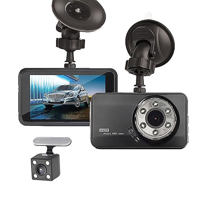 T638+ 720p / 1080p Nytt Design / Kul / Dual Lens Bil DVR 170 grader Bred vinkel 3 tommers LTPS Dash Cam med Night Vision / G-Sensor / Parkeringsmodus Nei Bilopptaker / Loop-opptak