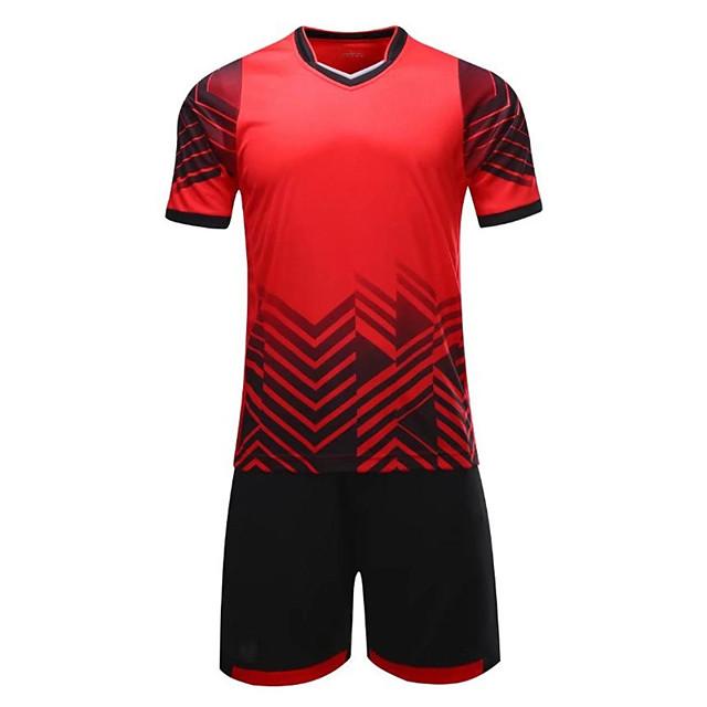 Men's Soccer Sweatshirt Breathable Moisture Wicking Football / Soccer Geometic Polester / Cotton Blend Adults Green Blue Pink